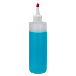 16 oz. Natural HDPE Cylindrical Sample Bottle with 28/410 White Yorker Cap
