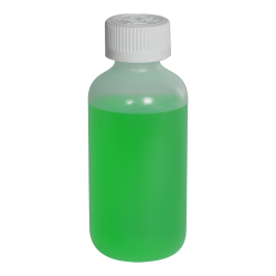 4 oz. LDPE Boston Round Bottle with 24/410 CRC Cap with F217 Liner