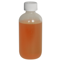 6 oz. LDPE Boston Round Bottle with 24/410 CRC Cap with F217 Liner