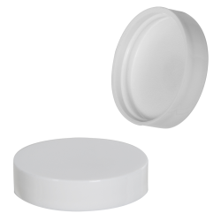 48/400 White Smooth Polypropylene Smooth Cap with SureSeal® 222 Liner