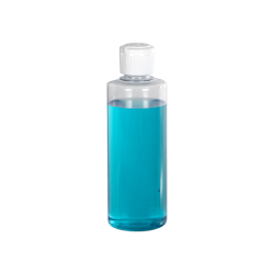 4 oz. Clear PVC Cylindrical Bottle with 20/410 Flip-Top Cap