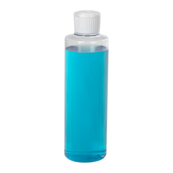 8 oz. Clear PVC Cylindrical Bottle with 24/410 Flip-Top Cap