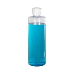 16 oz. Clear PVC Cylindrical Bottle with 28/410 Flip-Top Cap