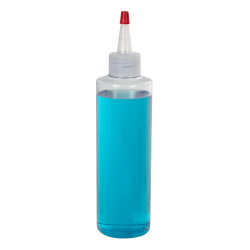 32 oz. Clear PVC Cylindrical Bottle with 28/410 Natural Yorker Cap