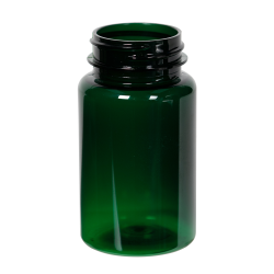 100cc Dark Green PET Packer Bottle with 38/400 Neck (Cap Sold Separately)