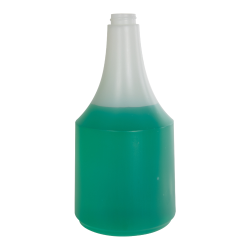40 oz. HDPE Delta Round Spray Bottle with 28/400 Neck (Sprayer Sold Separately)