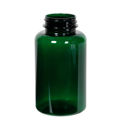 200cc Dark Green PET Packer Bottle with 38/400 Neck (Cap Sold Separately)
