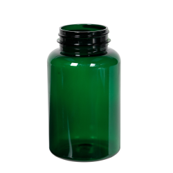 250cc Dark Green PET Packer Bottle with 45/400 Neck (Cap Sold Separately)