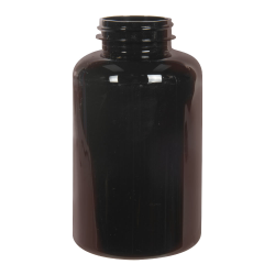 400cc Dark Amber PET Packer Bottle with 45/400 Neck (Cap Sold Separately)