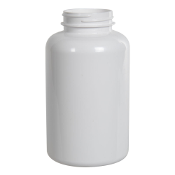 400cc White PET Packer Bottle with 45/400 Neck (Cap Sold Separately)