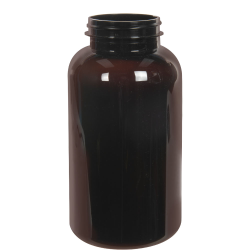 625cc Dark Amber PET Packer Bottle with 53/400 Neck (Cap Sold Separately)
