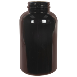 750cc Dark Amber PET Packer Bottle with 53/400 Neck (Cap Sold Separately)