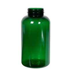 950cc Dark Green PET Packer Bottle with 53/400 Neck (Cap Sold Separately)