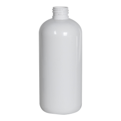 12 oz. White PET Traditional Boston Round Bottle with 24/410 Neck (Cap Sold Separately)