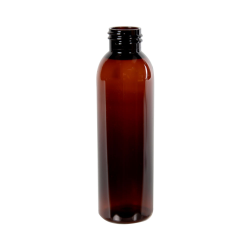 4 oz. Light Amber PET Cosmo Round Bottle with 24/410 Neck (Cap Sold Separately)