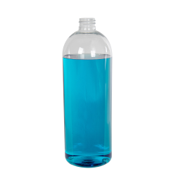 32 oz. Cosmo High Clarity PET Round Bottle with 28/415 Neck (Cap Sold Separately)
