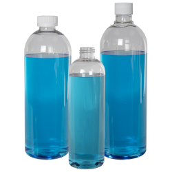 PET Cosmo High Clarity Round Bottles