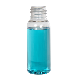 1 oz. Cosmo High Clarity PET Round Bottle with 20/410 Neck (Cap Sold Separately)