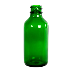 2 oz. Green Glass Boston Round Bottle with 20/400 Neck (Cap Sold Separately)