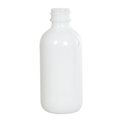2 oz. White Glass Boston Round Bottle with 20/400 Neck (Cap Sold Separately)