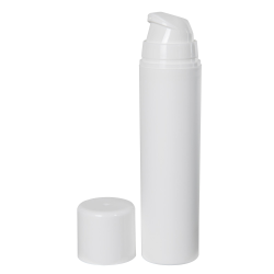 50mL White Mini Airless Dispensers with Cap