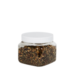 16 oz. Square PET Grip-It Jar with 89/400 Cap