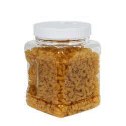 32 oz. Clear PET Square Pinch Grip-It Jar with 89/400 Cap