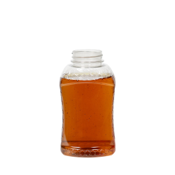 12 oz. (Honey Weight) PET Hourglass Grip Bottle with 38/400 Neck (Cap Sold Separately)