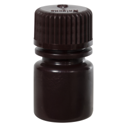 1/4 oz./8mL Nalgene™ Amber Narrow Mouth Bottle with 20mm Cap