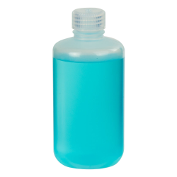 8 oz./250mL Nalgene™ Narrow Mouth Economy Polypropylene Bottle with 24mm Cap