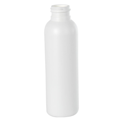 4 oz. HDPE White Cosmo Bottle 24/410 Neck  (Cap Sold Separately)