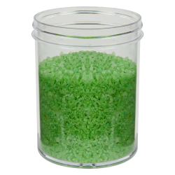 8 oz. Polystyrene Straight Sided Clear Jar with 70/400 Neck (Cap Sold Separately)