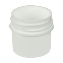1/4 oz. White Polypropylene Straight Sided Jar with 33/400 Neck (Cap Sold Separately)