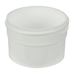 1/2 oz. White Polypropylene Straight Sided Jar with 43/400 Neck (Cap Sold Separately)