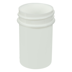3/4 oz. Polypropylene Straight Sided White Jar with 33/400 Neck (Cap Sold Separately)