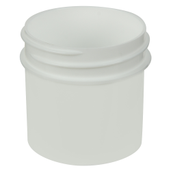 1 oz. White Polypropylene Straight Sided Jar with 43/400 Neck (Cap Sold Separately)