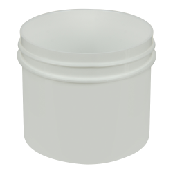 2 oz. Polypropylene Straight Sided White Jar with 58/400 Neck (Cap Sold Separately)