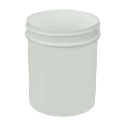 4 oz. White Polypropylene Straight Sided Jar with 58/400 Neck (Cap Sold Separately)