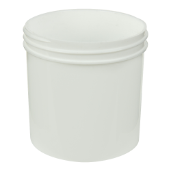 6 oz. White Polypropylene Straight Sided Jar with 70/400 Neck (Cap Sold Separately)