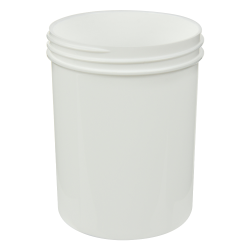 8 oz. White Polypropylene Straight Sided Jar with 70/400 Neck (Cap Sold Separately)
