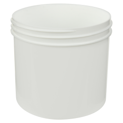 12 oz. Polypropylene Straight Sided White Jar with 89/400 Neck (Cap Sold Separately)