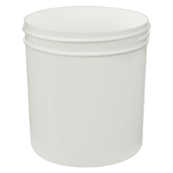 16 oz. White Polypropylene Straight Sided Jar with 89/400 Neck (Cap Sold Separately)