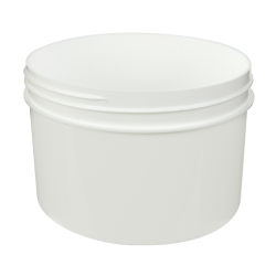24 oz. White Polypropylene Straight Sided Jar with 120/400 Neck (Cap Sold Separately)