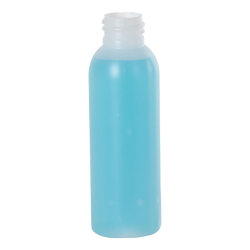 2 oz. HDPE Natural Cosmo Bottle 20/410 Neck  (Cap Sold Separately)