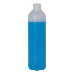 8 oz. HDPE Natural Cosmo Bottle 24/410 Neck  (Cap Sold Separately)