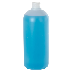 32 oz. HDPE Natural Cosmo Bottle 28/410 Neck  (Cap Sold Separately)