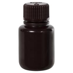 1 oz./30mL Nalgene™ Amber Narrow Mouth Economy Bottle with 20mm Cap