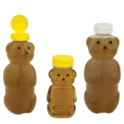 PET & LDPE Honey Bear Bottles & Caps