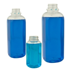 French Square PET Beverage Bottles & Caps