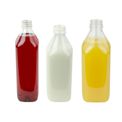 PET Square Beverage Bottles with DBJ Neck